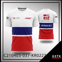 Kaos Baju Jersey F1 Formula One Team HAAS Full Print KR0227