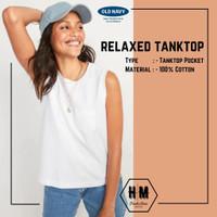 Tank top Wanita Putih Polos Jumbo Katun Adem Import Old Navy Murah