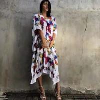 baju pantai bali dress pantai kaftan midi tropical bohemian kupu dress