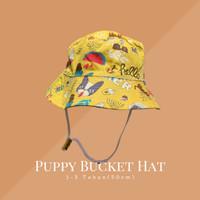 Daisy Hat Topi Anak / Kids Bucket Hat / topi bundar anak lucu - Puppy