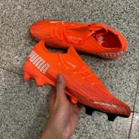 Sepatu Bola Puma Ultra 1.2 Orange Black