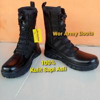 Sepatu Pdl ninja nike kulit sapi asli by wtor army boots - 39