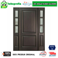 KPD10 - Set kusen pintu utama jendela panjang pintu satu kayu mahoni