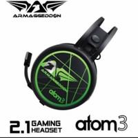 Armageddon Atom 3 Headphone Headset Gaming Led Blacklight With Mic