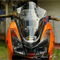 Visor Windshield Yamaha Lexi Model Beyonet Bubble Aksesoris lexi visor