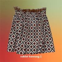 Tube Top Kemben Batik Coklat - COKLAT KAWUNG 1