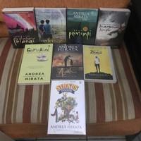 Paket 8 Buku Andrea Hirata Laskar Pelangi Aini Biasa Sirkus Ayah