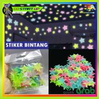 STIKER BINTANG 100PCS / STIKER DINDING GLOW IN THE DARK STIKER DINDING