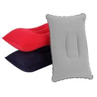 GIANTEX Bantal Tiup Angin Lipat - Portabel Inflatable Neck Pillow