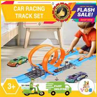 Mainan Anak Cowo / Laki-Laki Car Racing Track Set