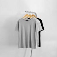Basic T-shirt Unfinished - Kaos Polos Pria Tanpa Kerah Original Distro