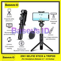 Baseus Lovely Selfie Stick Bluetooth Tongsis Tripod Tongkat Vlog HP