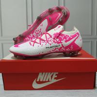 Sepatu Bola Nike Phantom GT Elite White Pink