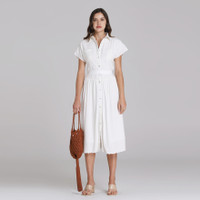 Wearstatuquo Versailles Embroidery Shirt Dress - White