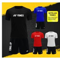 Setelan Badminton Yonex YST1 Baju Celana bulutangkis Pria wanita Murah