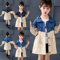 Ussy Coat Kids Usia 4th-8th Baju Anak Perempuan Jaket Anak Perempuan - Biru, 4-5 tahun