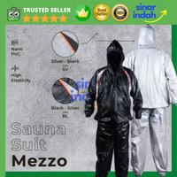 Baju Sauna Celana Sauna Suit Olahraga Mezzo Hitam (Hood & Sleting)