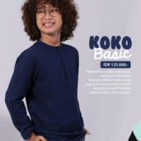 Baju Koko Anak Laki-Laki Muslim warna Navy by Afrakids