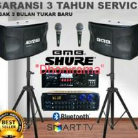 paket karaoke bluetooth BMB 10inch paket sound sistem rumah audio