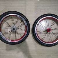 Wheelset Mialo Bikes 5s bonus ban luar Kenda KSmart & dalam swallow