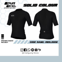 Jersey XC Roadbike PVR SOLID Colour BLACK ~ Jerseys RB Pro Visual