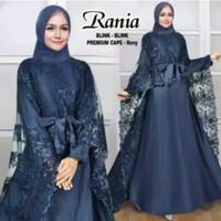 Gamis Brokat / Pesta Wanita / Rania Blink Blink Fashion Wanita Muslim - Navy