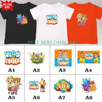 baju kaos anak VLAD AND NIKI banyak motif / kaos distro anak free nama