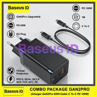 Baseus GaN Fast Charger 65W Power Delivery Charging PD QC 4.0 3.0 VOOC - COMBO GAN2PRO