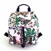 Backpack Wanita Tory Burch tilda printed nylon