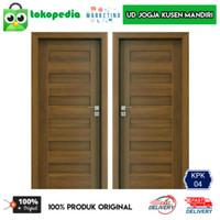 KPK04 - Set kusen pintu kamar minimalis pintu kayu mahoni