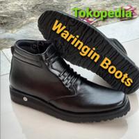 Sepatu PDH kulit sol tebal datar pasir Wor Army Boots