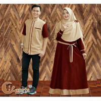 Gamis Batik Pasangan Muslim Keluarga Baju Couple Muslimah Syari Dress
