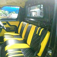 sarung jok mobil grand max/Isuzu traga - Kuning