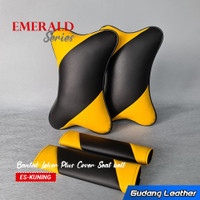 Bantal Mobil PLUS Cover Seat belt Kulit Sintetis - Emerald Series