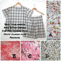 Baju Tidur Wanita Full kancing depan Katun jepang Size M/L PREORDER