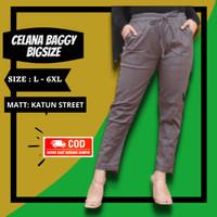 Baggy Pants Jumbo Wanita Celana Bagyy Bawahan Kerja Cewek Bigsize