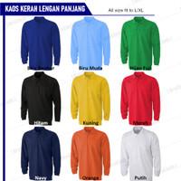 Kaos Polo Shirt Lengan Panjang|T Shirt Polo|Kaos Berkerah|Kaos T Shirt