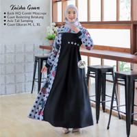 Kaisha Gown Premium Gamis Batik Maxy Dress Lebaran Exclusive Real Pict