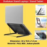 Penyangga Laptotop Ipad / Laptop stand kokoh bahan metal