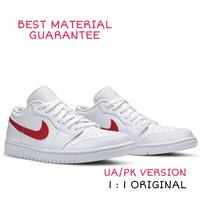 Sepatu Casual Hype Nike Air Jordan 1 Low UA/PK University Red, BNIB.
