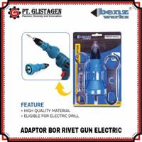 Adaptor Bor Tang Rivet Elektrik Gun Adapter Konvektor Alat Penyambung