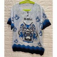 Baju bali barong rayon premium - Biru