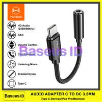 Mcdodo CA-7560 Kabel HiFi DAC Audio Music USB Type C To Jack Aux 3.5mm