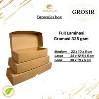 KOTAK DUS BROWNIS / BOX KUE KRAFT BROWNIES   ROTI FOOD GRADE TEBAL