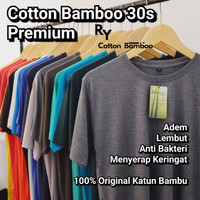 kaos polos KATUN BAMBU 30s serat bambu (COTTON BAMBOO T-SHIRT ORGANIC)