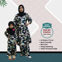 Baju Couple One Set Ibu dan Anak Setelan Anak Perempuan