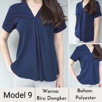 Baju Wanita/Blouse/Blazer Basic dan Elegan-Koleksi Ketiga - Model 9, L