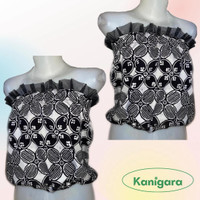 Tube Top Kemben Batik Hitam