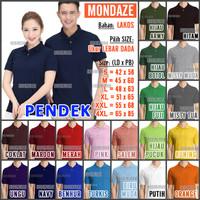Kaos Polo Shirt / Kerah Polos MONDAZE - Dewasa - Pendek