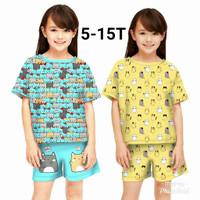 Baju Setelan Anak Perempuan / Stelan Anak Perempuan Umur 5-12 Tahun